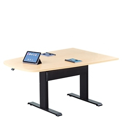 "Eleve Adjustable Height Media Table - 84""W x 42""D, 46369"