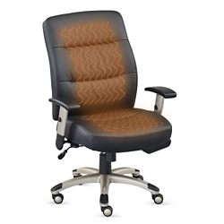 Comfortemp Faux Leather Task Chair with Heated Seat and Back, 57150