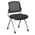 Nex Armless Mesh Back Fabric Nesting Chair, 51001