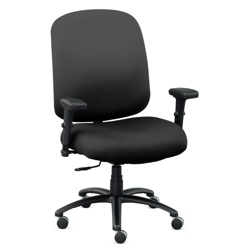 Extra Big & Tall Faux Leather Chair with Arms, 56612