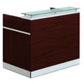 "Esquire Glass Top Reception Desk - 48""W x 30""D, 76318-1"
