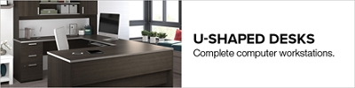 Discover Wooden Wrap Around Desk From Bestar, Bush And Sauder Office  Furniture