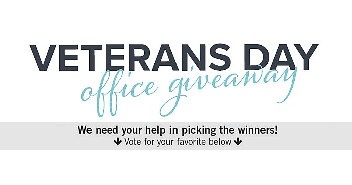 Help Us Choose the Winners of Our Veterans Day Office Giveaway | NBF Blog