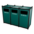 Triple Sideload Waste Bin with 45 Gallon Capacity, 85457
