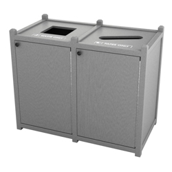 Double Topload Waste Bin with 32 Gallon Capacity, 85462