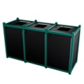 Triple Topload Waste Bin with 45 Gallon Capacity, 85466