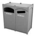 Single Sideload Arched Waste Bin with 26 Gallon Capacity, 85468