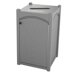 Single Topload Arch Waste Bin with 45 Gallon Capacity, 85482