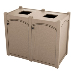Double Topload Arch Waste Bin with 45 Gallon Capacity, 85483
