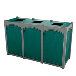 Triple Topload Arch Waste Bin with 45 Gallon Capacity, 85484
