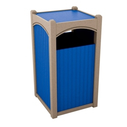Single Sideload Bead Board Waste Bin 45 Gallon Capacity, 85543
