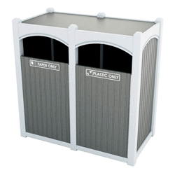 Double Sideload Bead Board Waste Bin 26 Gallon Capacity, 85538