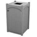 Single Topload Bead Board Waste Bin with 32 Gallon Capacity, 85549