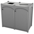 Double Topload Bead Board Waste Bin 32 Gallon Capacity, 85550