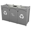 Triple Topload Bead Board Waste Bin 32 Gallon Capacity, 85551