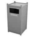 Single Sideload Bead Board Waste Bin 32 Gallon Capacity, 85558