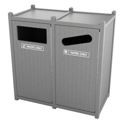 Double Sideload Bead Board Waste Bin 32 Gallon Capacity, 85559