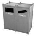 Double Sideload Bead Board Waste Bin with 45 Gallon Capacity, 85562
