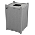 Single Topload Bead Board Waste Bin 32 Gallon Capacity, 85567