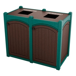 Double Topload Bead Board Waste Bin 32 Gallon Capacity, 85568