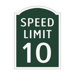 Speed Limit 10 Outdoor Sign, 91930