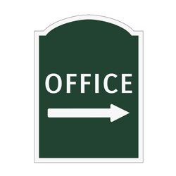 Office Right Outdoor Sign, 91933