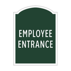 Employee Entrance Outdoor Sign, 91944