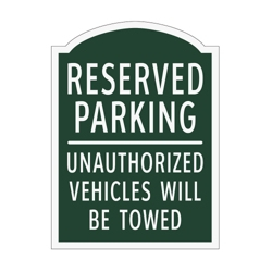 Reserved Parking Outdoor Sign, 91946