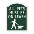 All Pets Must Be On Leash Outdoor Sign, 91950