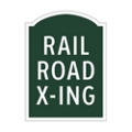 Railroad Crossing Outdoor Sign, 91955
