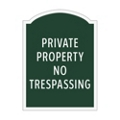 Private Property No Trespassing Outdoor Sign, 91959