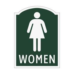 Women Restroom Sign, 91966