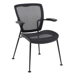 Articulating Back Mesh Guest Chair with Black Frame, 57006
