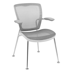Articulating Back Mesh Guest Chair with White Frame, 57007