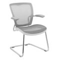 Articulating Back Mesh Guest Chair with Cantilever Base and White Frame, 57009