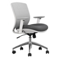 Mesh Ergonomic Task Chair with White Frame, 57013