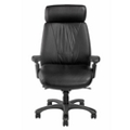 Leather Ergonomic High-Back Chair with Graphite Frame, 57127
