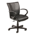 Mid Back Leather Manager's Chair, 57136