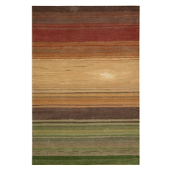 Stripe Print Area Rug - 5'W x 7.5'D, 82200