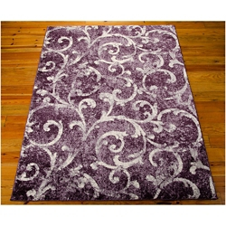 kathy ireland by Nourison Swirl Print Area Rug - 7.83'W x 10.83'D, 82183