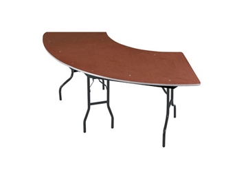 "Serpentine Plywood Table - 30"" x 60"", 92185"
