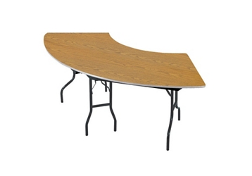 "Serpentine Plywood Table with Laminate Top - 30"" x 60"", 92186"