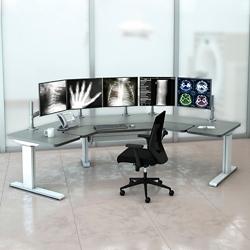 """Radiology Adjustable Height Split Table 98"""" W, 26469"""