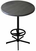 "30"" Round Indoor/Outdoor Table - 42""H, 42135"