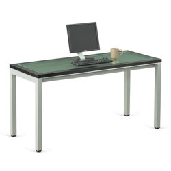 "Reveal Glass Top Desk 60""W x 24""D , 14744"