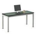 "Reveal Glass Top Desk 60""W x 24""D , 14744"