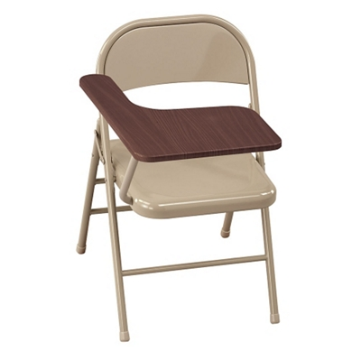 Lovely Treble Steel Folding Chair With Tablet Arm, 51045