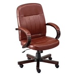 Officient - Burnham Leather Conference Chair