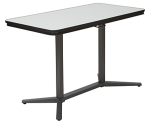 "Height Adjustable Table with Dry Erase Top - 47.25""W x 23.5""D, 45083"