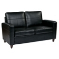 Eco Leather Contemporary Loveseat , 53002
